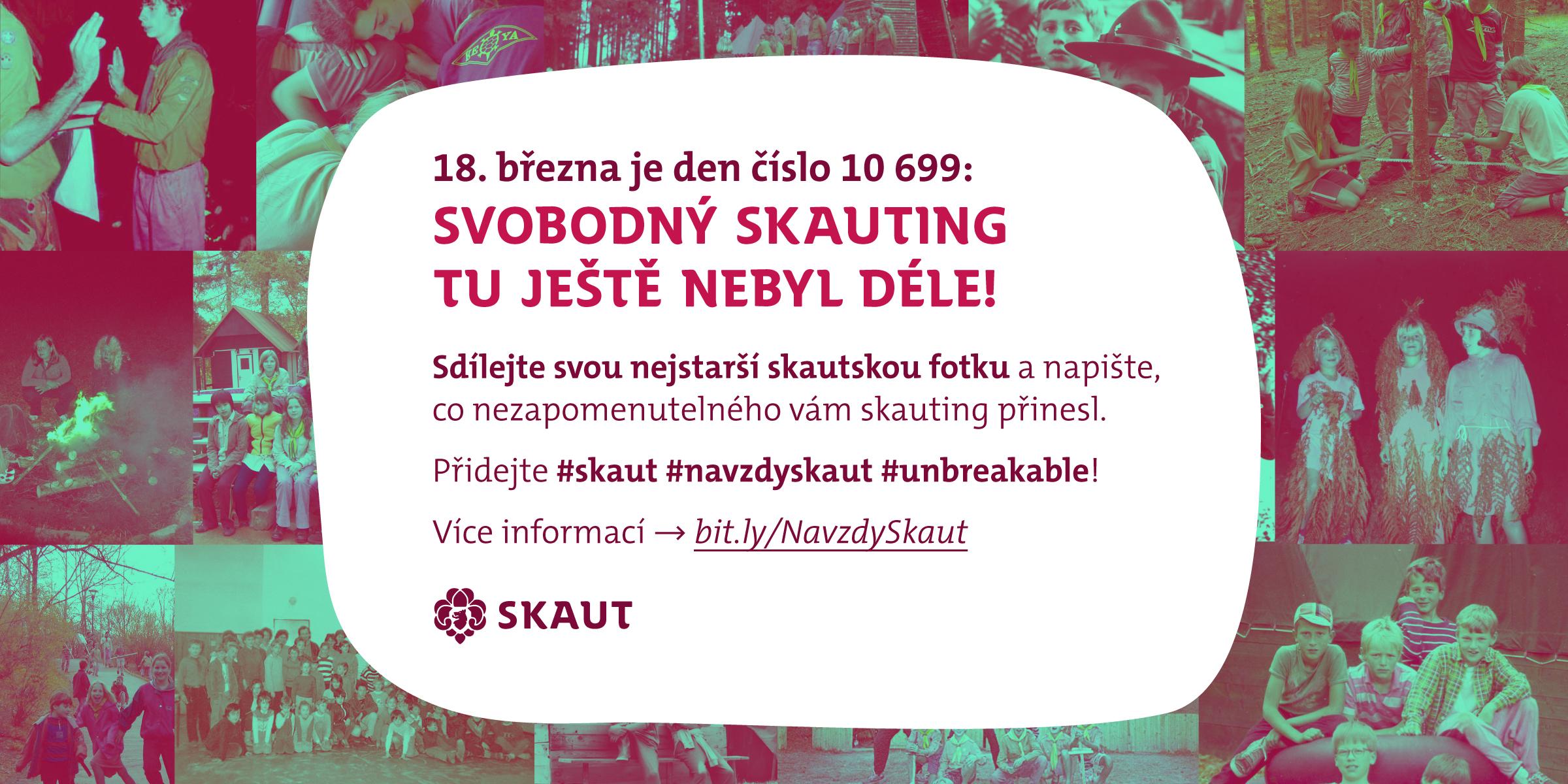 Oslavíme den 10 699, nejdelší trvání skautingu v českých zemích. Buďte u toho!